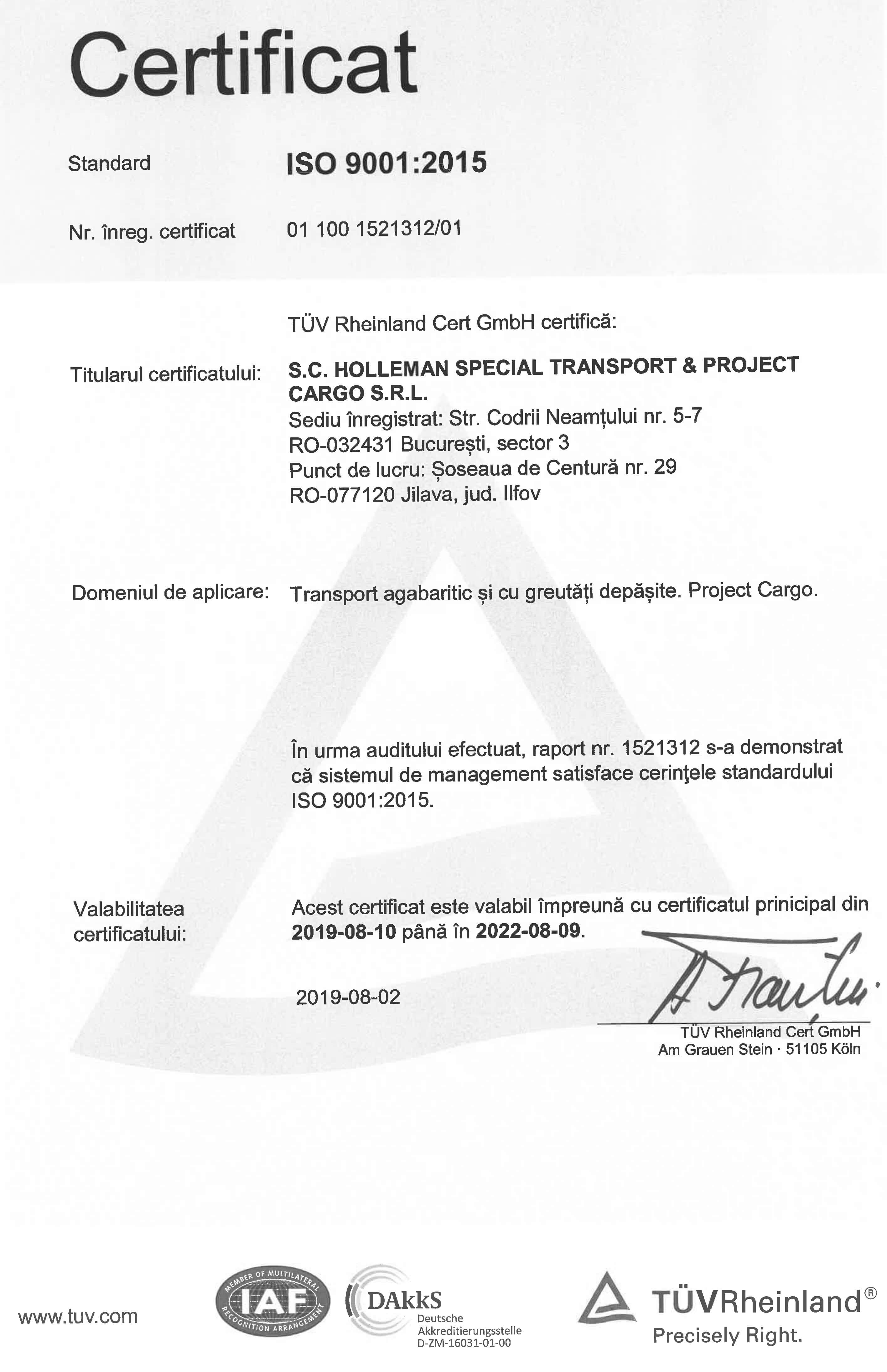 certificare iso 9001-2008